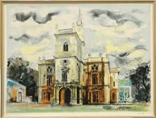 JOHN PIPER (BRITISH, 1903-1992), FLINTHAM HALL FROM