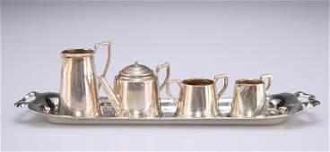 AN ELIZABETH II SILVER MINIATURE TEA SERVICE, by Walter