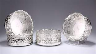AN EXCEPTIONAL SET OF FOUR EARLY VICTORIAN SILVER