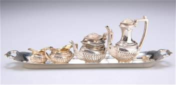 AN ELIZABETH II SILVER MINIATURE TEA AND COFFEE