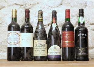 6 BOTTLES MIXED LOT INCLUDING GOOD CLARET, RHONE AND