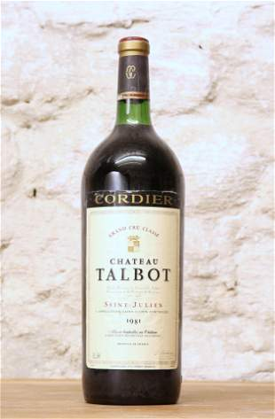 1 MAGNUM BOTTLE CHATEAU TALBOT GRAND CRU CLASSE ST