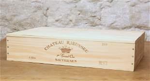 6 BOTTLES CHATEAU RIEUSSEC PREMIER CRU CLASSE SAUTERNES