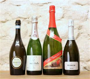 4 BOTTLES (INCLUDING 1 MAGNUM) SUPERIOR PROSECCO AND