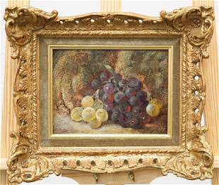 VINCENT CLARE (1855-1930), STILL LIFE OF GRAPES AND