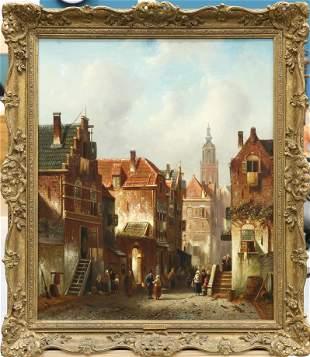 CHARLES HENRI JOSEPH LEICKERT (1816-1907), DUTCH STREET