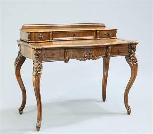 A 19TH CENTURY FRENCH ROSEWOOD DRESSING TABLE, with
