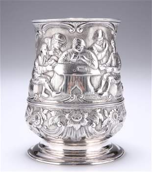 AN EARLY GEORGE III SILVER TANKARD, by William Shaw &
