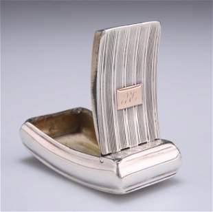 A GEORGE III SILVER SNUFF BOX,by William