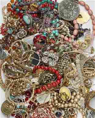 A LARGE QUANTITY OF COSTUME JEWELLERY,including