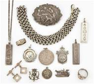 A GROUP OF SILVER JEWELLERY, includingFOUR SILVER