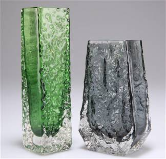 """WHITEFRIARS, A TEXTURED SQUARE """"NAILHEAD"""" GLASS"""