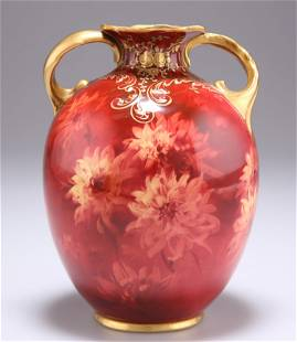 A DOULTON BURSLEM VASE, by Fred Hancock, decorated with