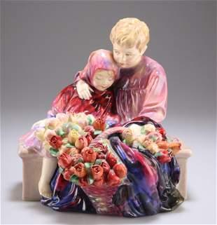 """A ROYAL DOULTON FIGURE, """"THE FLOWER SELLER'S CHILDREN"""","""
