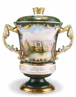 A LARGE AYNSLEY LIMITED EDITION LOVING CUP AND COVER,