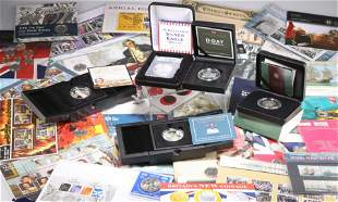 A LARGE COLLECTION OF ROYAL MINT AND OTHER COIN AND