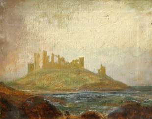 ENGLISH SCHOOL (19TH CENTURY), A VIEW OF DUNSTANBURGH