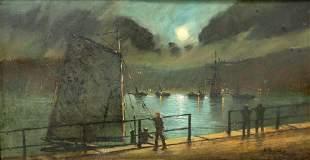 WALTER LINSLEY MEEGAN (1859-1944), NOCTURNE HARBOUR