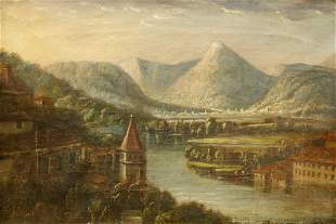 CONTINENTAL SCHOOL (19TH CENTURY), RIVER LANDSCAPE WITH