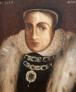 BRITISH SCHOOL, PORTRAIT OF A LADY (POSSIBLY MARY QUEEN