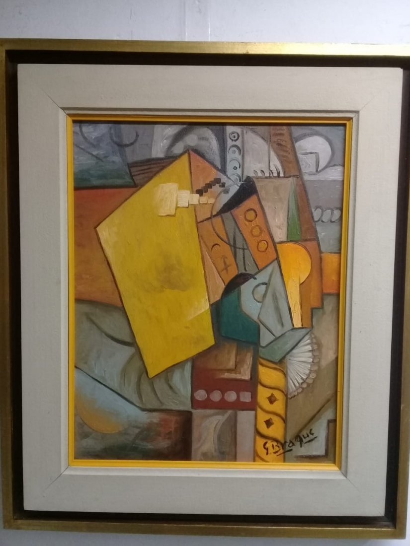 Attributed Oil Painting Signed G. Braque - Cubism Piece