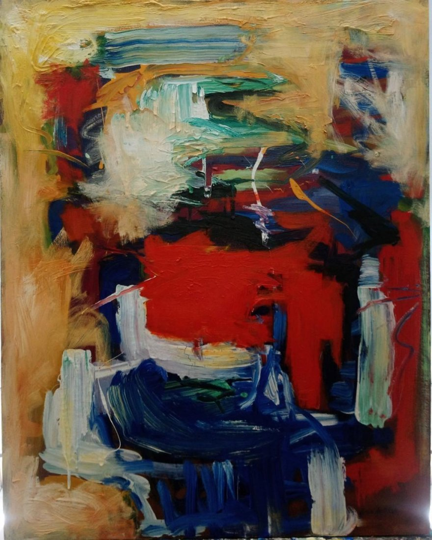American Abstract Artist Joan Mitchell - oil on canvas