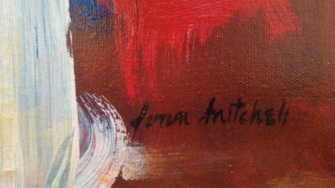 American Abstract Artist Joan Mitchell - oil on canvas - 2