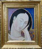 Spanish master Pablo Picasso - Oil canvas attributed