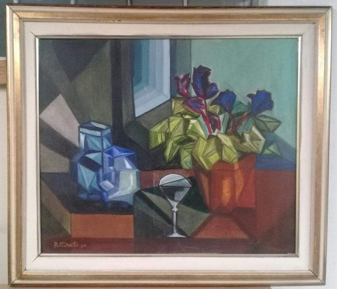 Emilio Pettoruti - Oil on canvas painting style Cubism