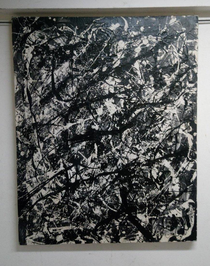 Jackson Pollock / Style painting Oil on canvas
