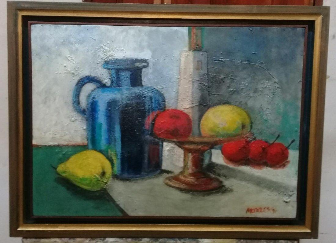 Armando Morales - Still Life Oil canvas painting