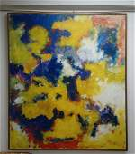 Post War Painting attributed Sam Francis - Oil canvas