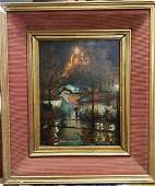 douard Cortes  Antique oil canvas painting French