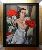 Tamara De Lempicka  Art Deco Oil canvas Painting