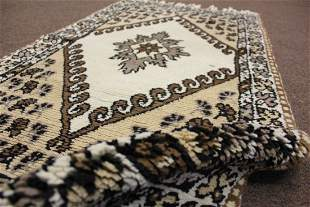 TWO VINTAGE RUGS NO DYES 24 X 42 71 X 127 CM