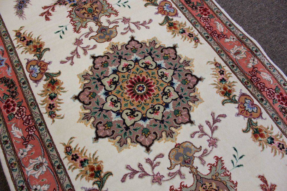 """ONE OF A PAIR OF TABRIZ RUNNER, 2'6"""" X 7'5, 76 X 255 CM"""
