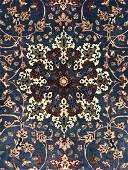 FINE BLUE ANTIQUE ISFAHAN BY SEIRAFIAN, 3'4X5'2,101X157