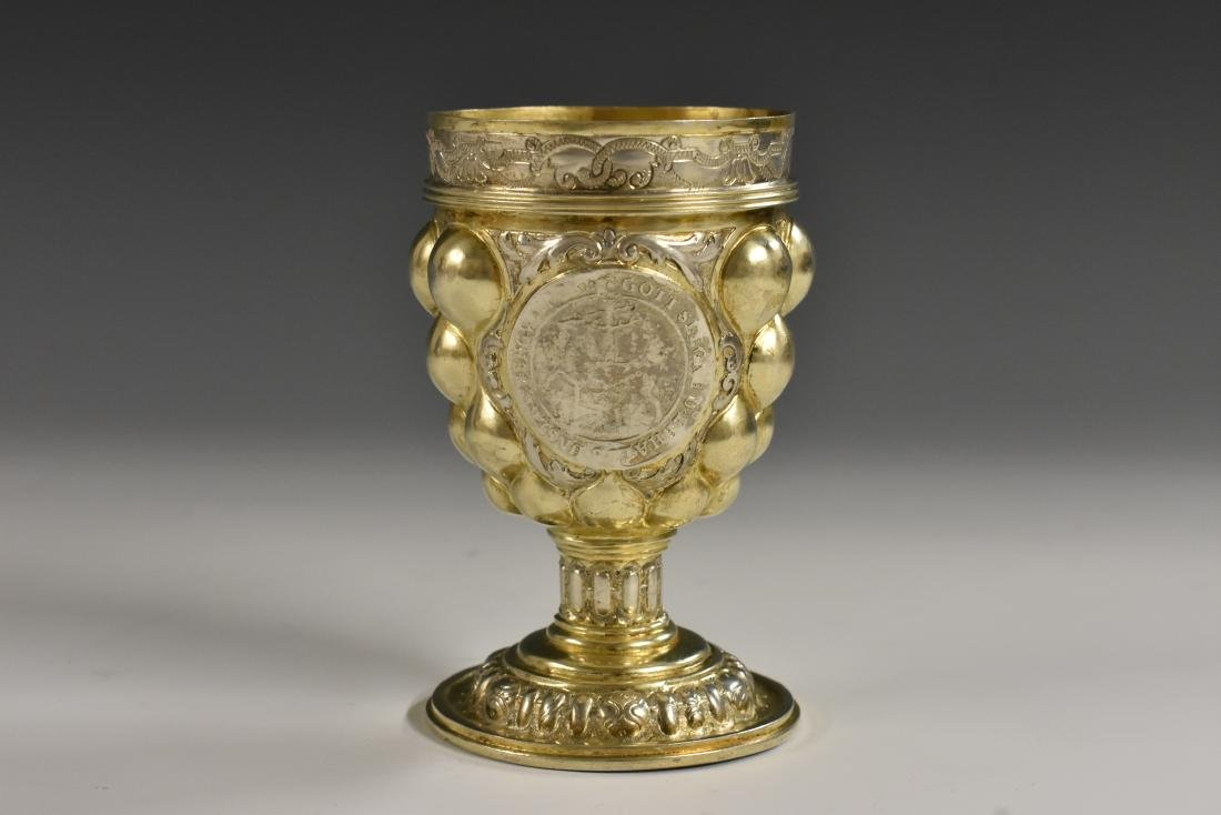 A German silver-gilt 'pineapple' goblet, in the