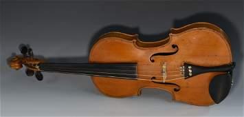 A 19th century Italian violin, paper label printed F