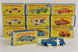 Matchbox Series models including Mercedes Benz