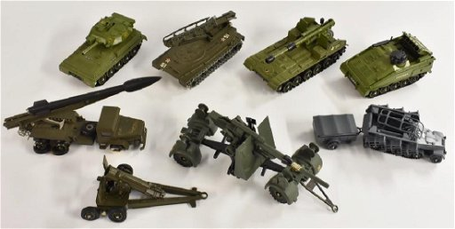 Military Diecast Vehicles - inc Dinky Toys, Alvis
