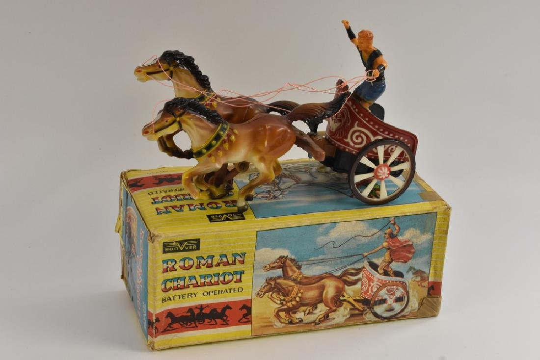 A Hoover Roman chariot, battery operated, boxed