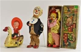 A Cragston mechanical tin plate Circus Clown, with