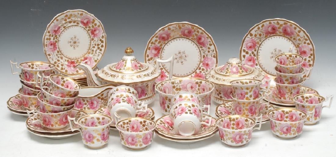 An early 19th century English porcelain tea service,