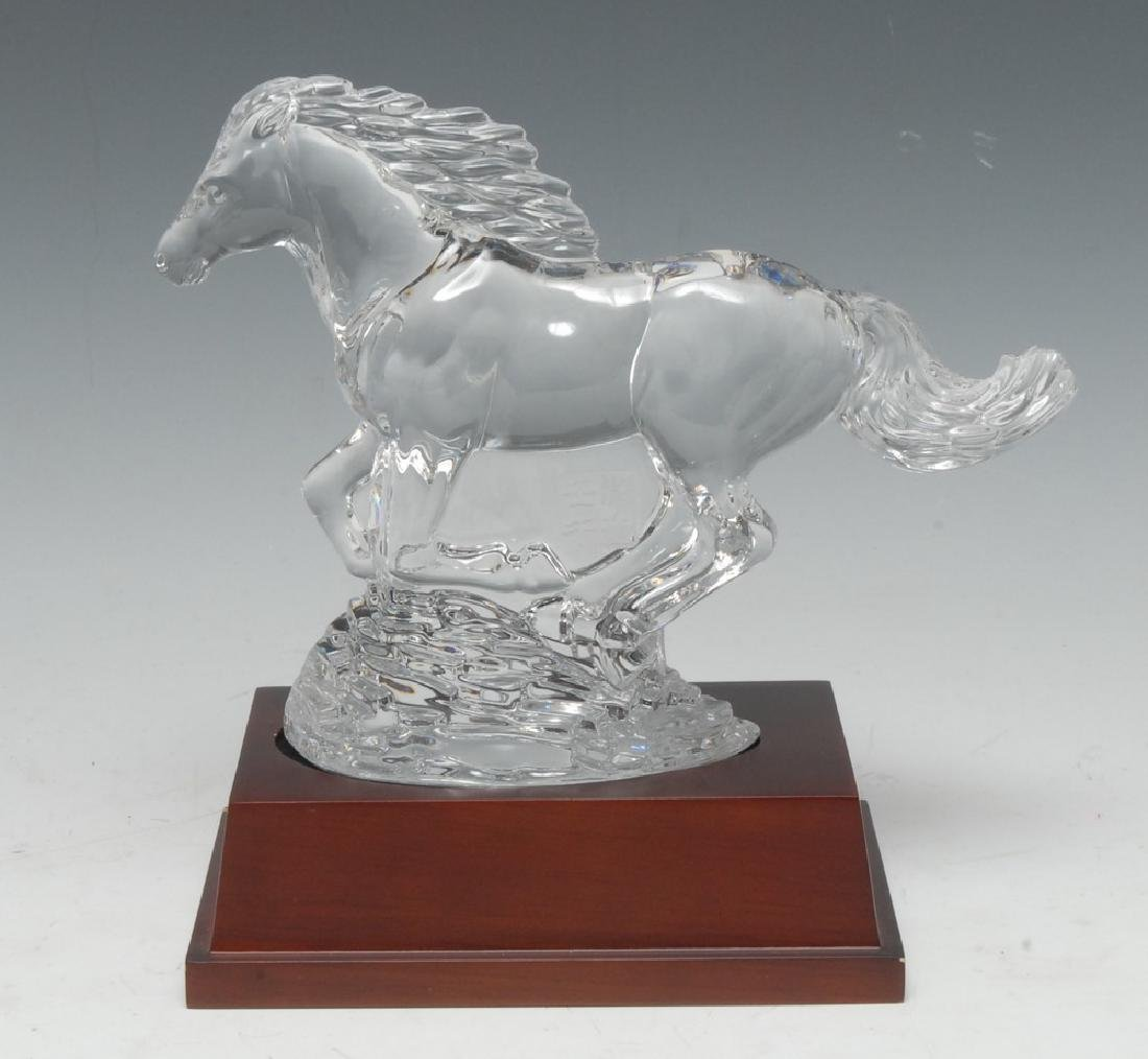 A Waterford Crystal Year of the Horse model, running,