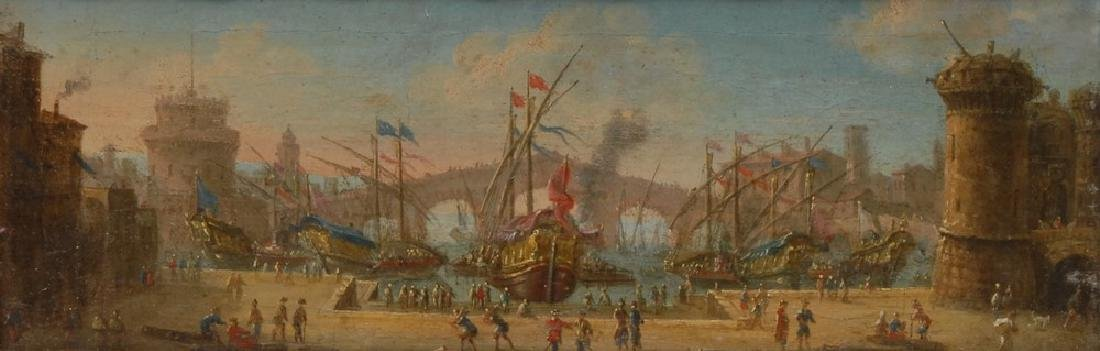 Dutch School (18th century) An Italianate Harbour Scene - 2