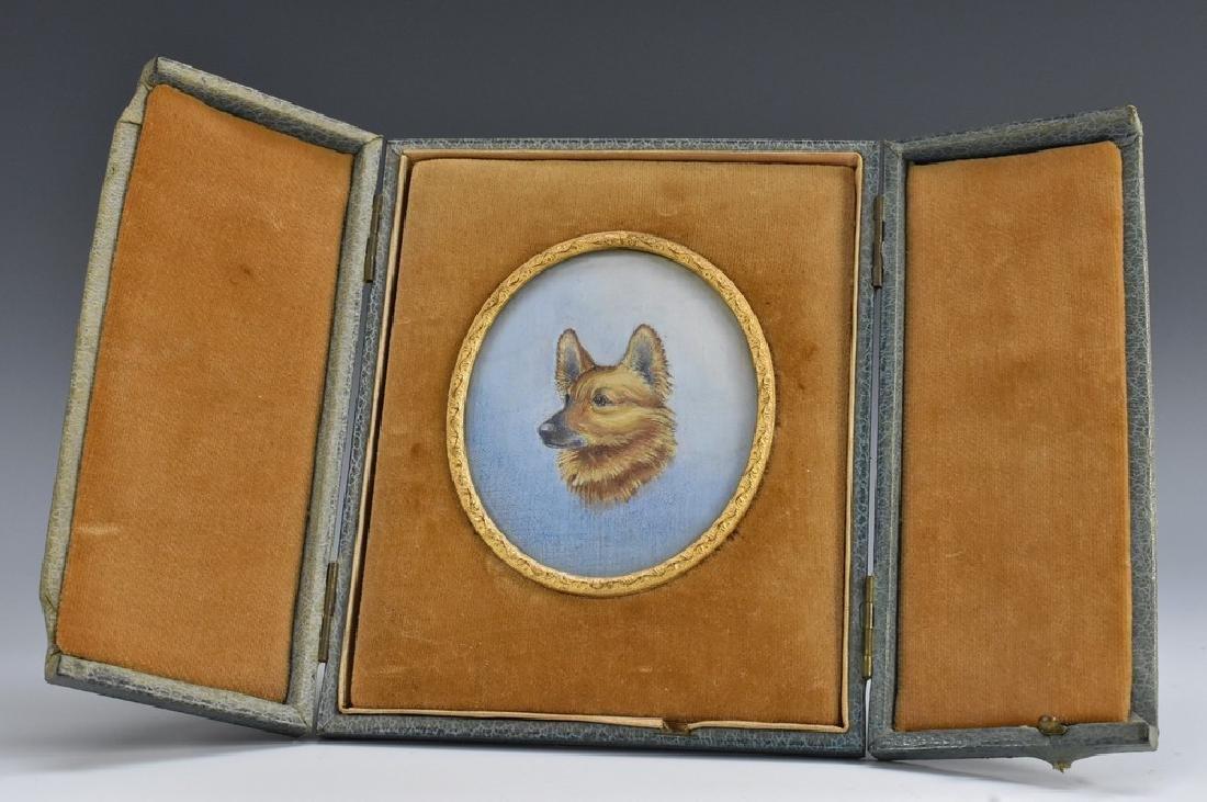 English School (early 20th century), a canine portrait