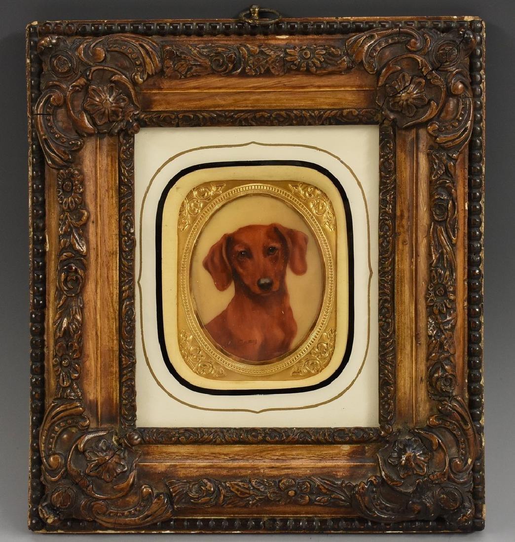 Kay Gray (20th century), a canine portrait miniature,