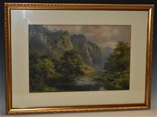 Samuel Bourne (1834 - 1912) Dovedale, Derbyshire signed