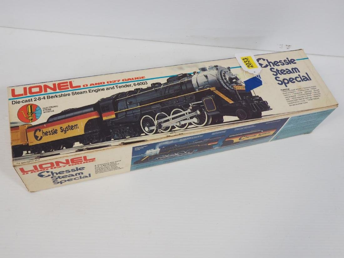 Lionel 027 ga. Chessie Steam Special train set
